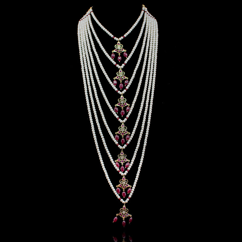 Mahira Mala Set - Ruby