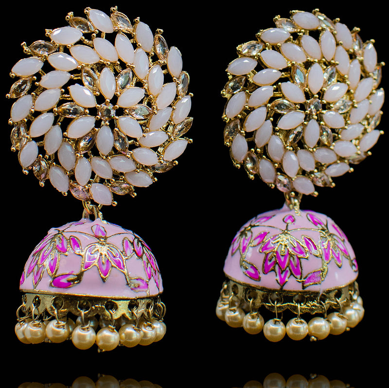 Lola Earrings - Pink