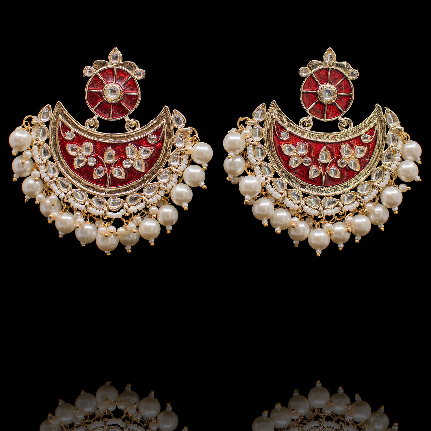 Semra Earrings - Red