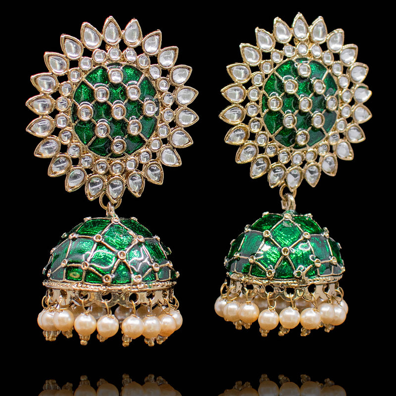 Zyma Earrings - Green