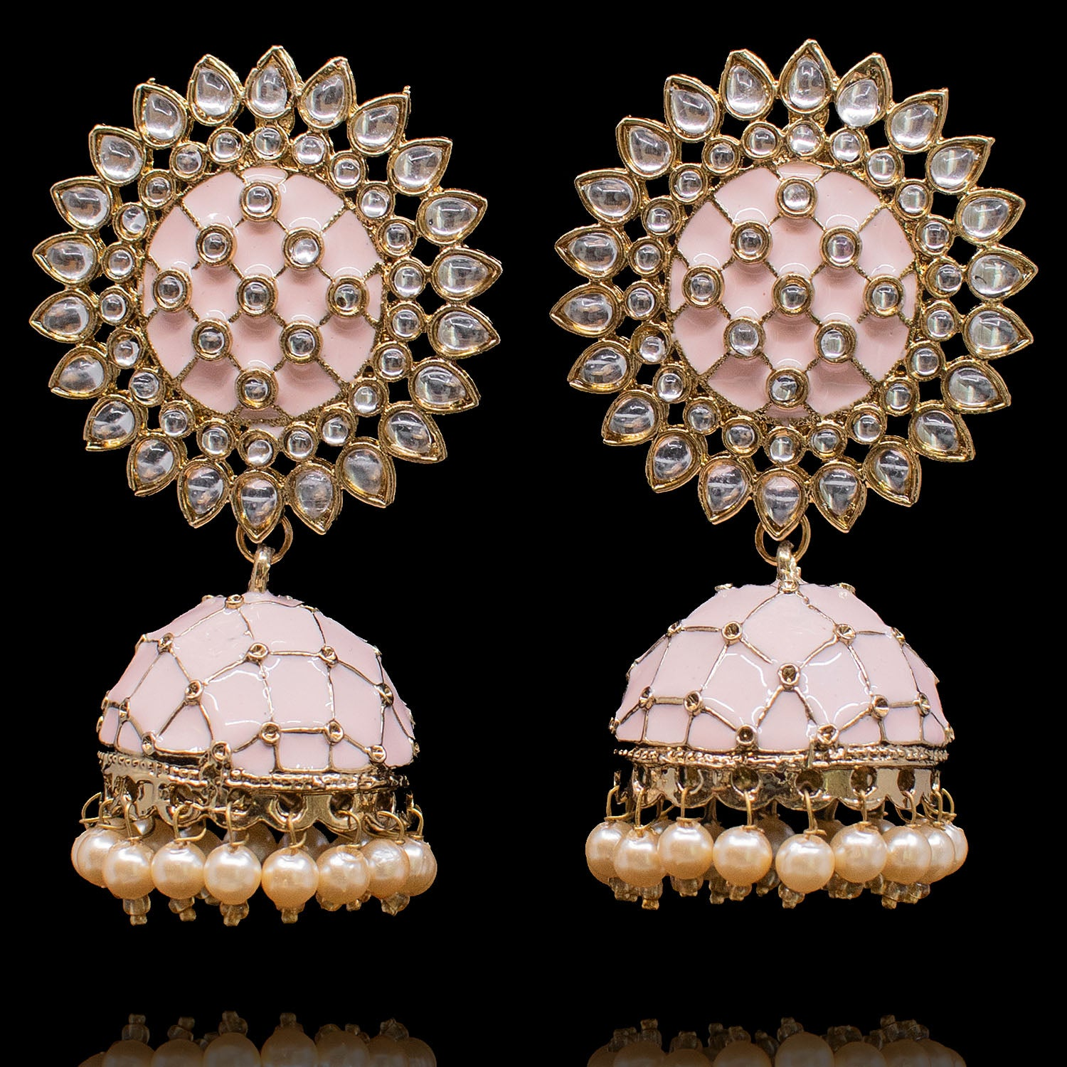 Zyma Earrings - Peach