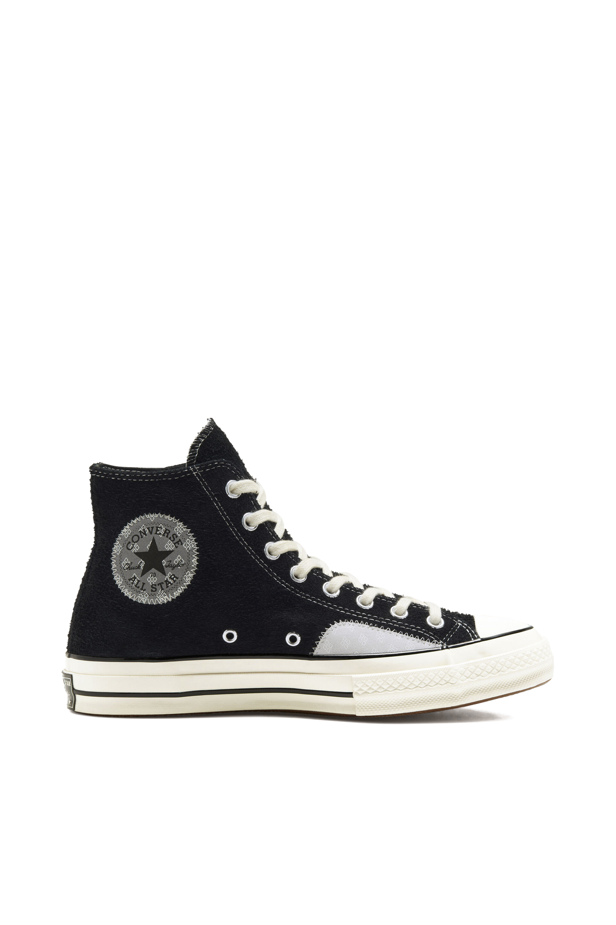 Chuck Taylor All Star 70 Patchwork Suede Hi - Black