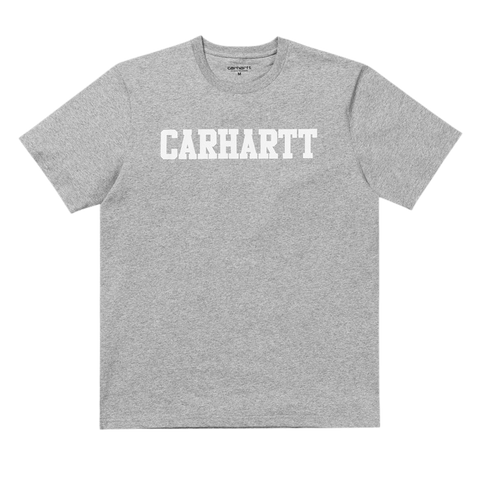 S/S College T-Shirt - Heather Grey