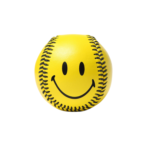 Smiley Baseball - Yellow