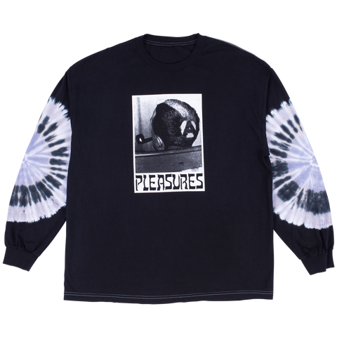 Haircut Tie Dye Long Sleeve - Black