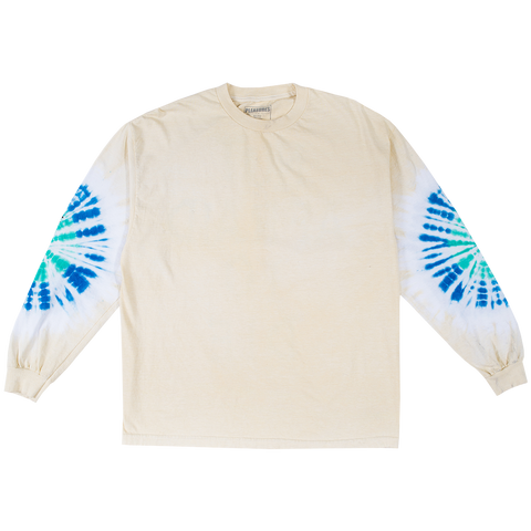 Not Afraid Tie Dye Long Sleeve - Creme