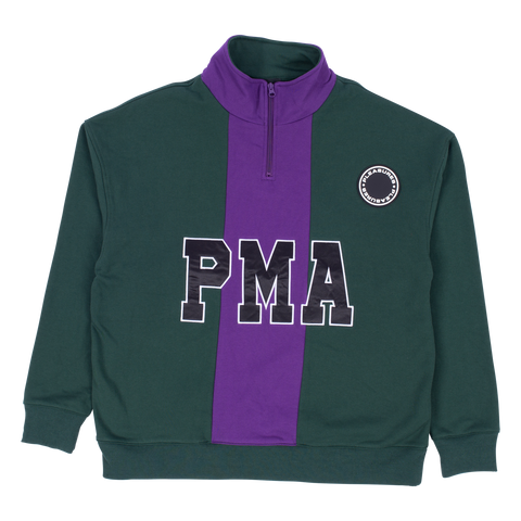 PMA 1/4 Zip - Green / Purple