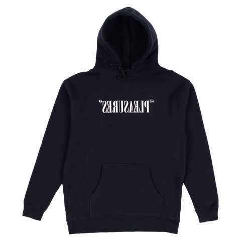 Flipped Logo Hooded Sweatshirt - Black