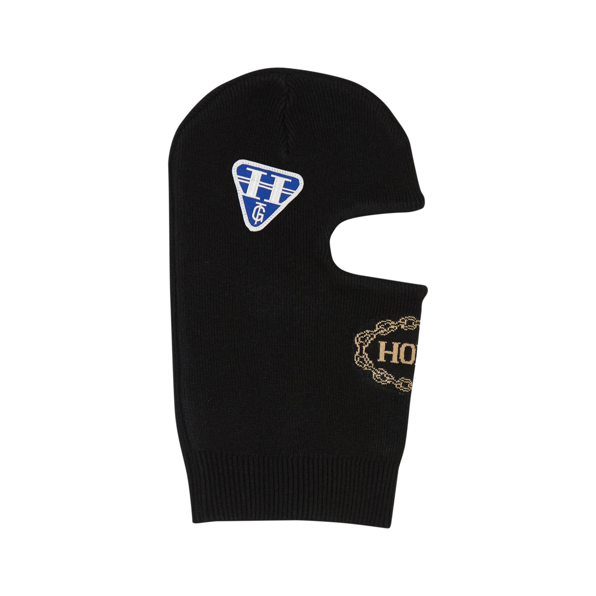 Decal Racing Ski Mask - Black