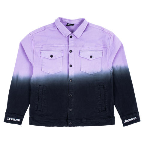 Dawn Trucker Jacket - Black / Purple
