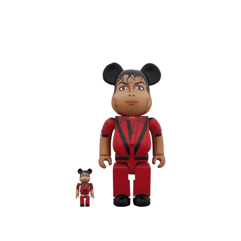BE@RBRICK Michael Jackson 100% + 400% Set - Red Jacket