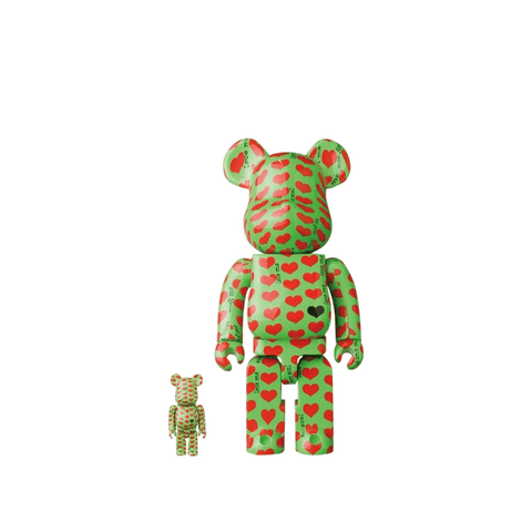 BE@RBRICK Amplifier 100% + 400% Set - Green Heart