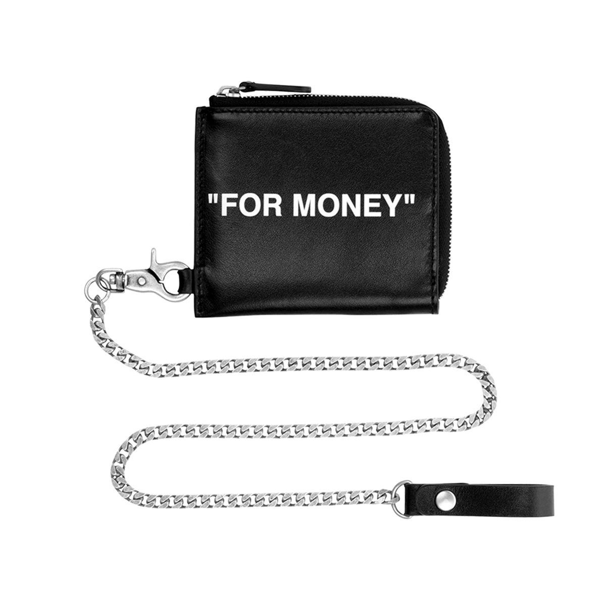 Quote Chain Wallet - Black