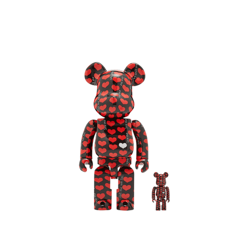 BE@RBRICK Black Heart 100%+400% Set