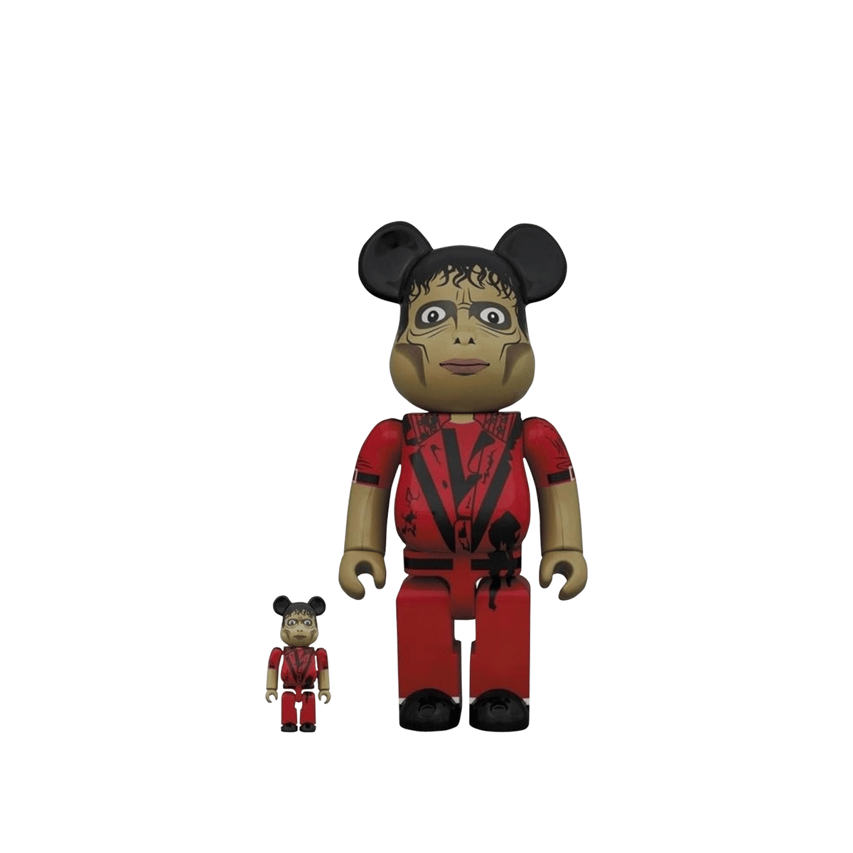 BE@RBRICK Michael Jackson 100% + 400% Set - Zombie