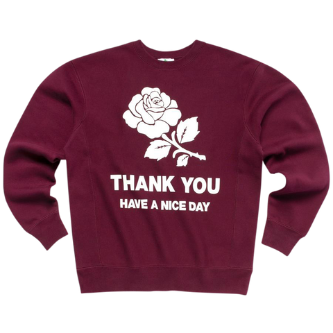 UV Activated Rose Crewneck - Maroon