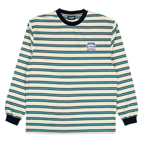 Hangman Premium Striped L/S T-Shirt - Green