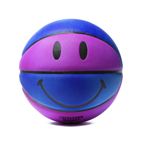UV Activated Smiley Basketball - Blue / Purple