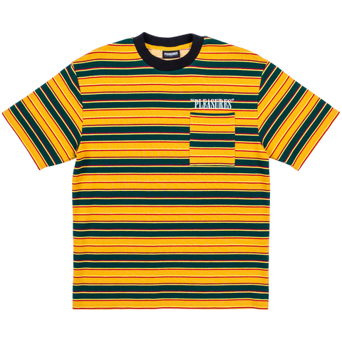 Chainsmoke Stripe T-Shirt - Yellow Multi