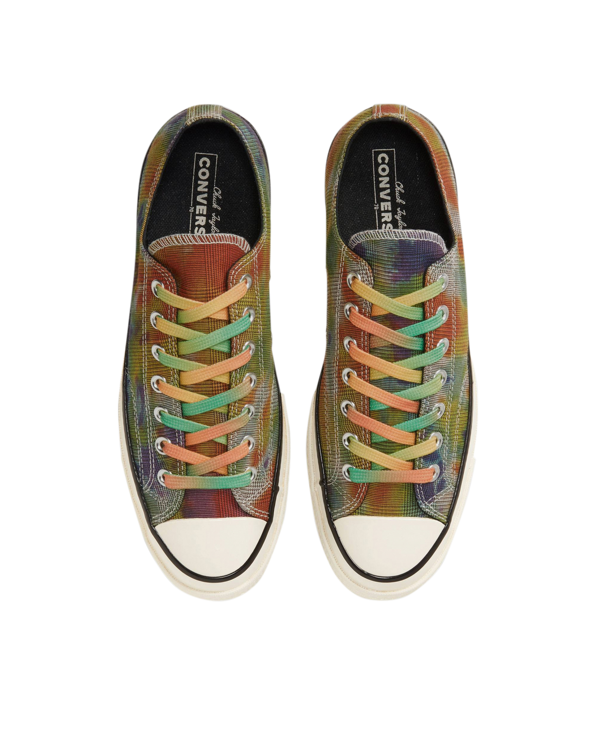 Chuck Taylor 70 Tie Dye Plaid Low - Egret