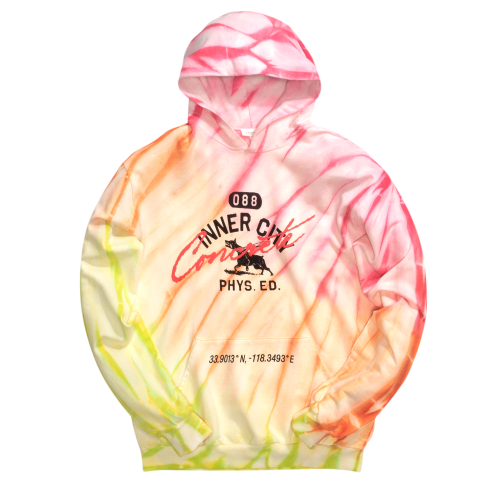 088 Mascot Pullover Hoodie - Sunset Tie Dye