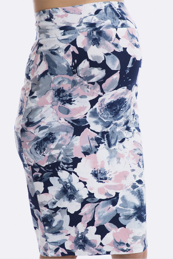 Above Bump Skirt in Aquarelle