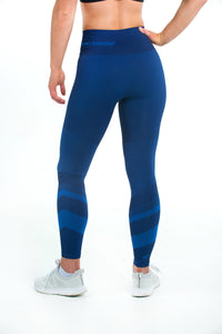 PATENTED WOMEN'S CORETECH® INJURY RECOVERY AND POSTPARTUM COMPRESSION LEGGINGS (BLUE JACINDA)