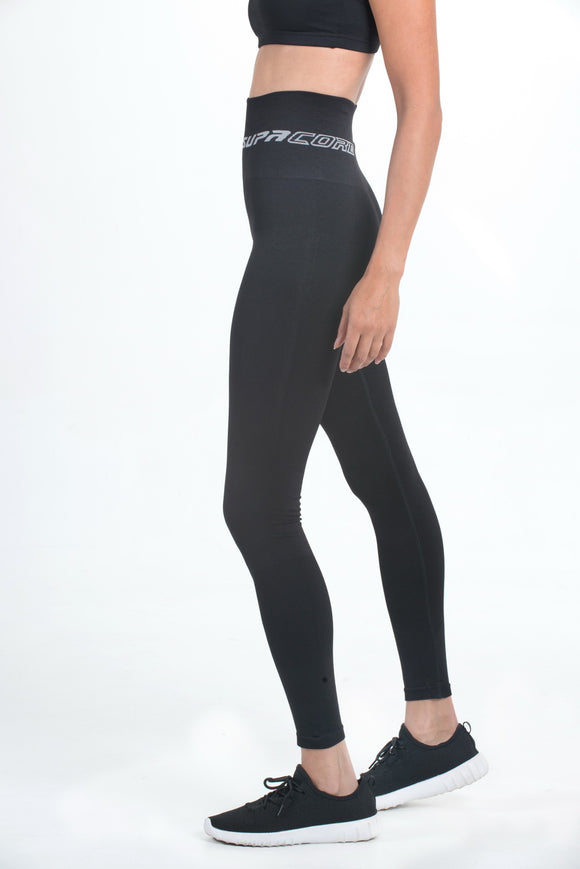 PATENTED WOMEN'S CORETECH® INJURY RECOVERY AND POSTPARTUM COMPRESSION LEGGINGS (BLACK)