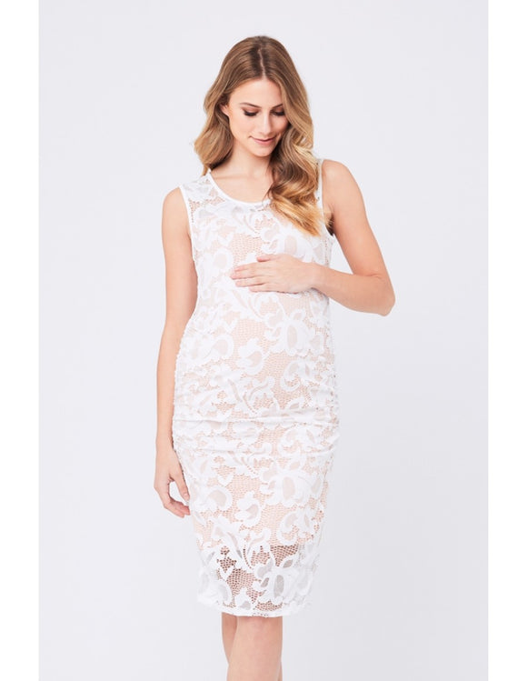 Eden Lace Dress - White