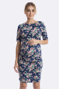 Luella Maternity & Nursing Dress in Navy Rose