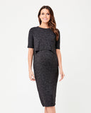 Laura Nursing Dress - Granite