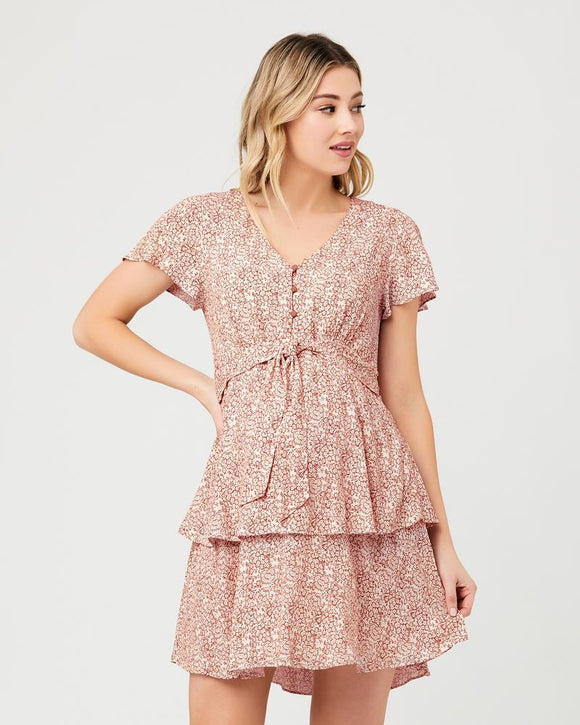 Lulu Layered Dress  Rose / White