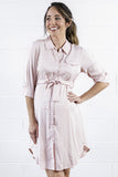 Kara Shirt Dress in Peony