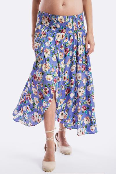 Dreamer Maternity Maxi Skirt in Marine