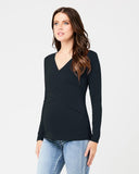 Embrace Long Sleeve Nursing Top Tar