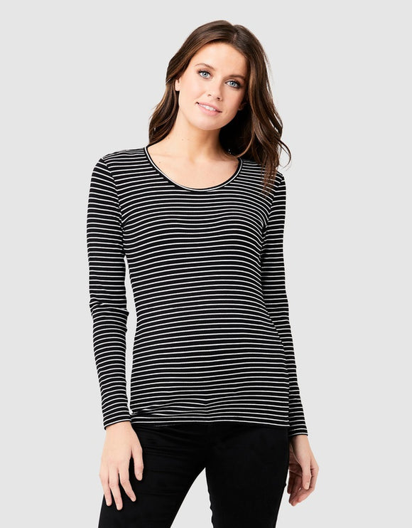 Round about striped tee