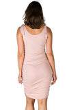 Lyla Bamboo Maternity and Nursing Tank in Blush