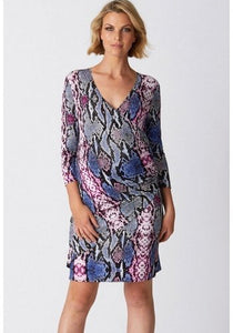 Printed Romance Maternity Dress