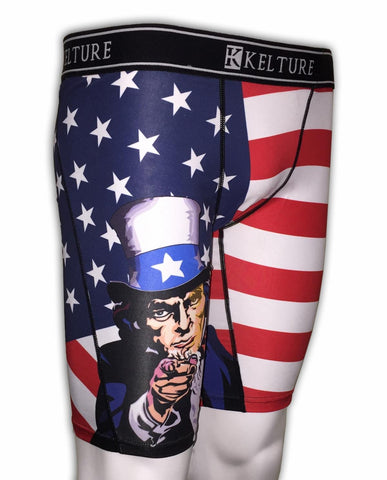 KLTURE Uncle Sam Men's Boxer Shorts (K920) - Fresh N Fitted