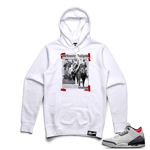 Hasta Muerte Newspaper Hustle Hoodie (White)