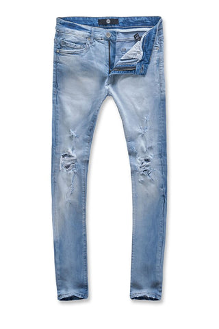 Sean - Ice Blue Denim with Rips