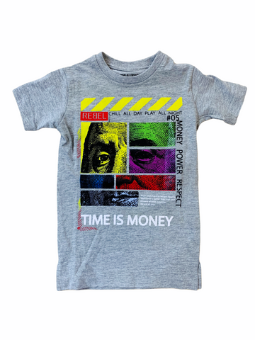 Evolution Kids 'Time Is Money' T-Shirt (H.Grey)