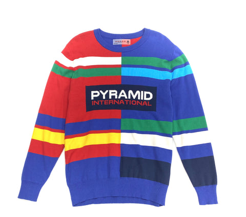 Black Pyramid Crewneck Sweater Multi Color Y5161836 - Fresh N Fitted