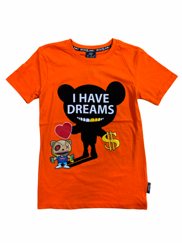 Switch Kids 'I Have Dreams' T-Shirt (Orange)