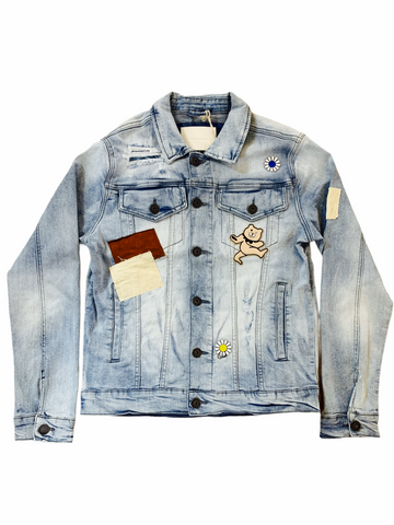 Kloud9 Patchwork Denim Jacket (Ice Blue)