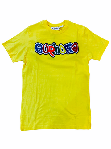 FWRD 'Euphoria' Chenille Patch T-Shirt (Yellow)