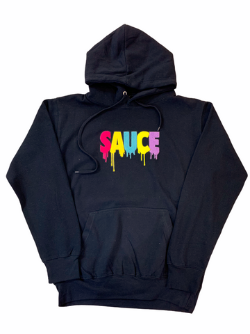 3Forty Inc. 'Sauce' Chenille Patch Hoodie (Black)