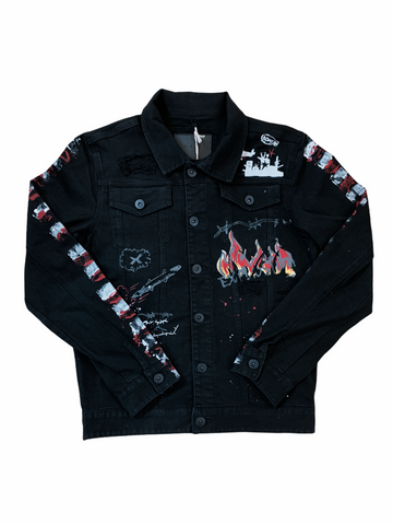 Kloud9 'Faith is Forever' Denim Jacket (Black)