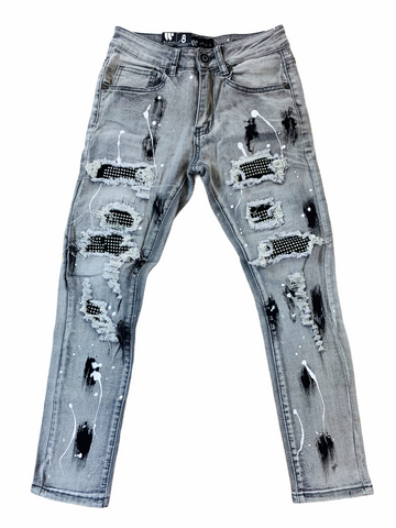 Waimea Kids Distressed Denim w/Stones (Grey Wash)