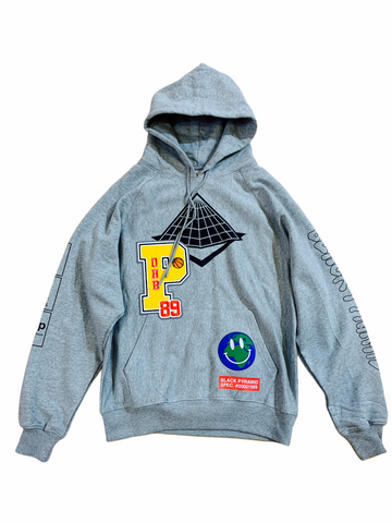 Black Pyramid Chenille Patch Hoodie (H.Grey)